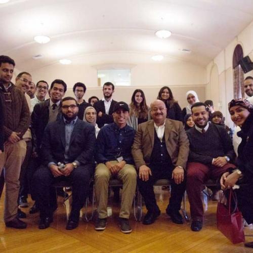تقرير مصور عن زيارة سفير خادم الحرمين الشريفين بامريكا  لطلبة بوسطن