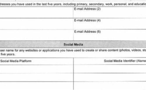 ذكر حسابات التواصل الإجتماعي شرط للحصول على الفيزا الأمريكية
